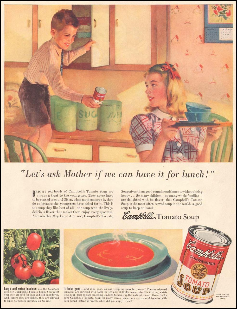 CAMPBELL'S SOUPS LIFE 12/16/1940 p. 31