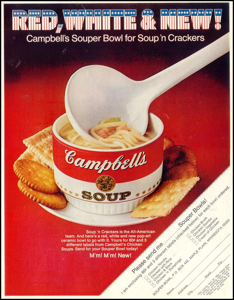 CAMPBELL'S SOUPS SATURDAY EVENING POST 01/25/1969