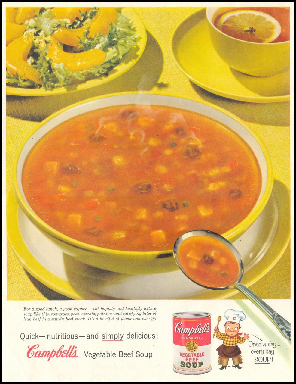 CAMPBELL'S SOUP SATURDAY EVENING POST 02/05/1955