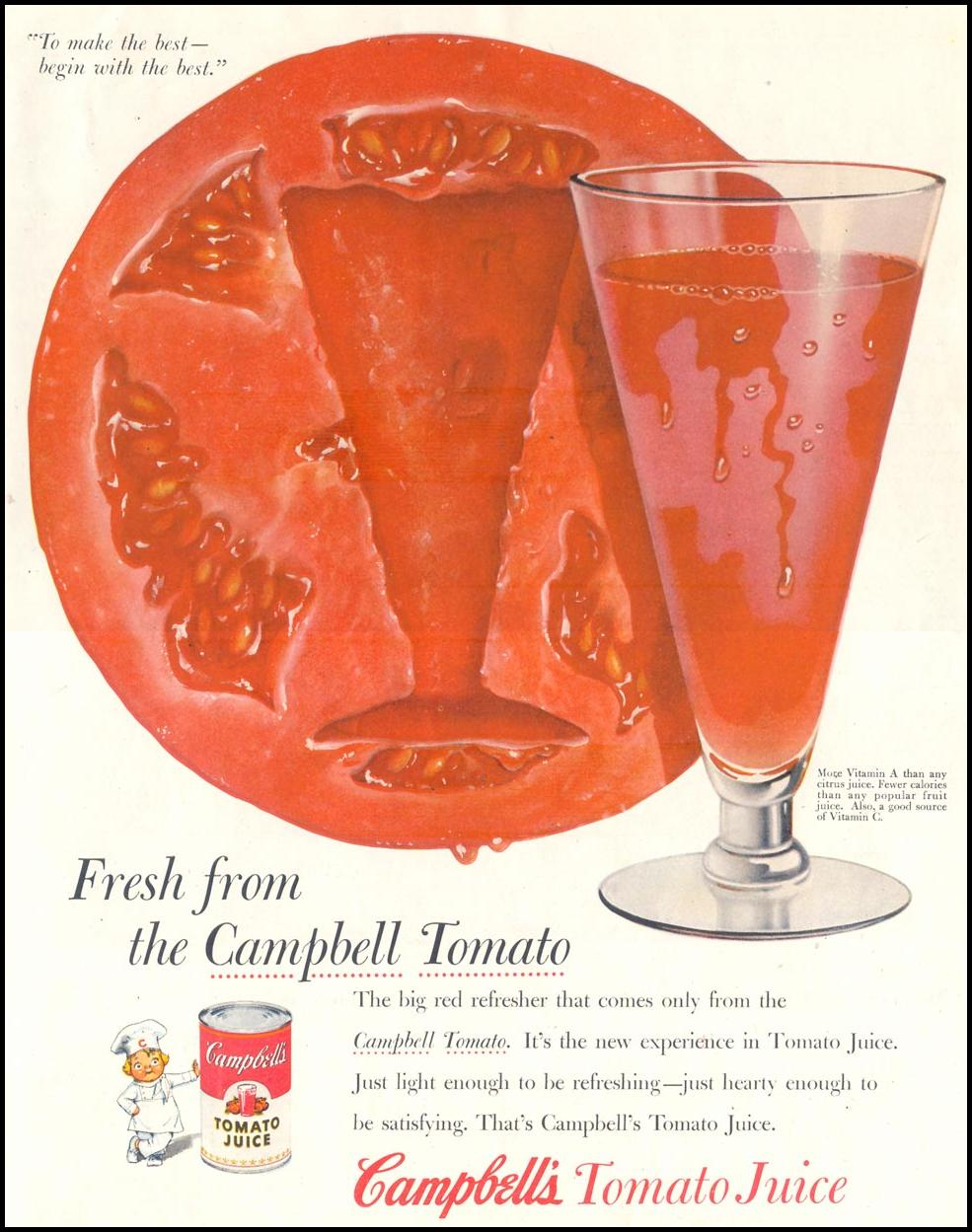 CAMPBELL'S TOMATO JUICE SATURDAY EVENING POST 03/26/1955