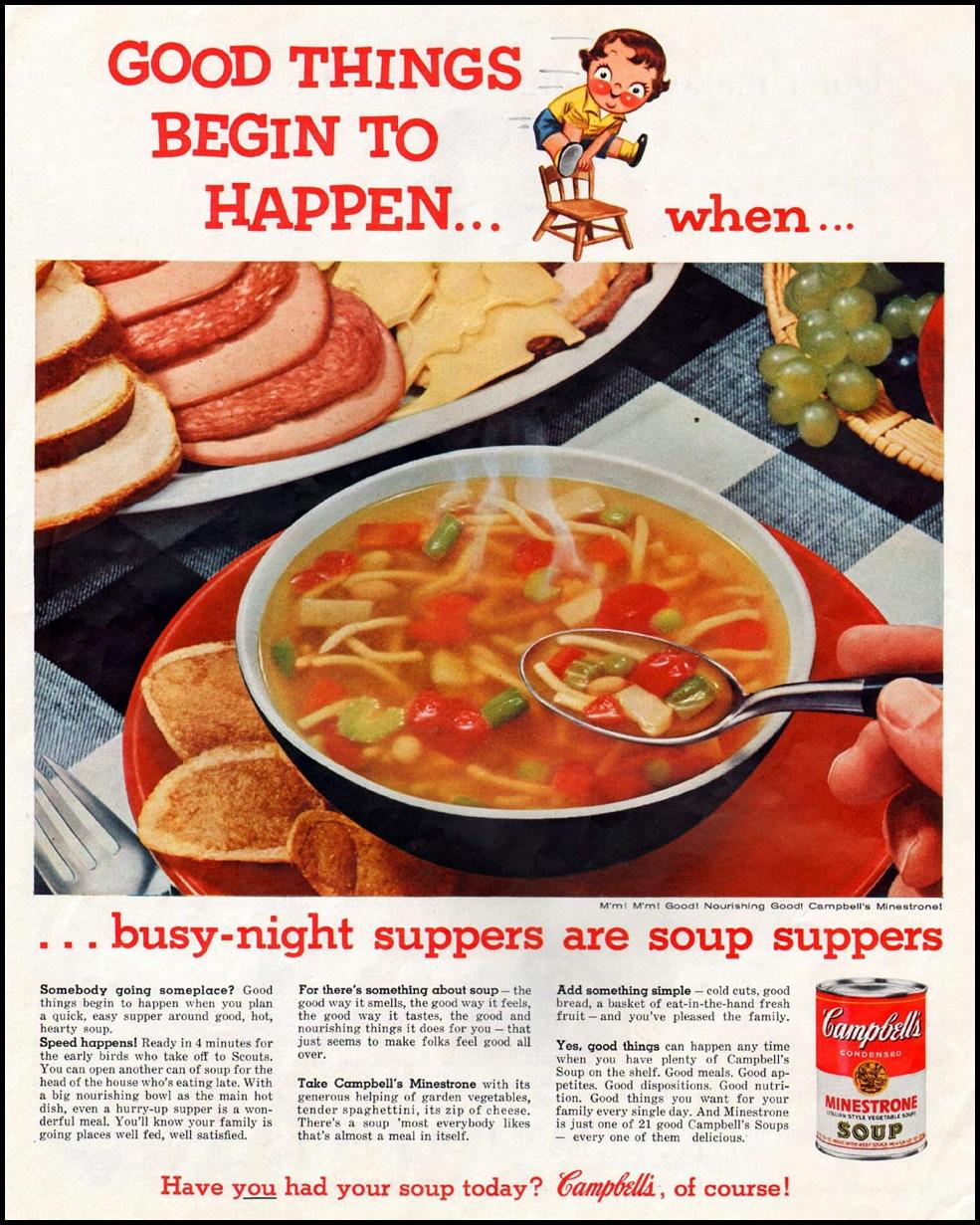 CAMPBELL'S SOUPS SATURDAY EVENING POST 06/04/1960 p. 43