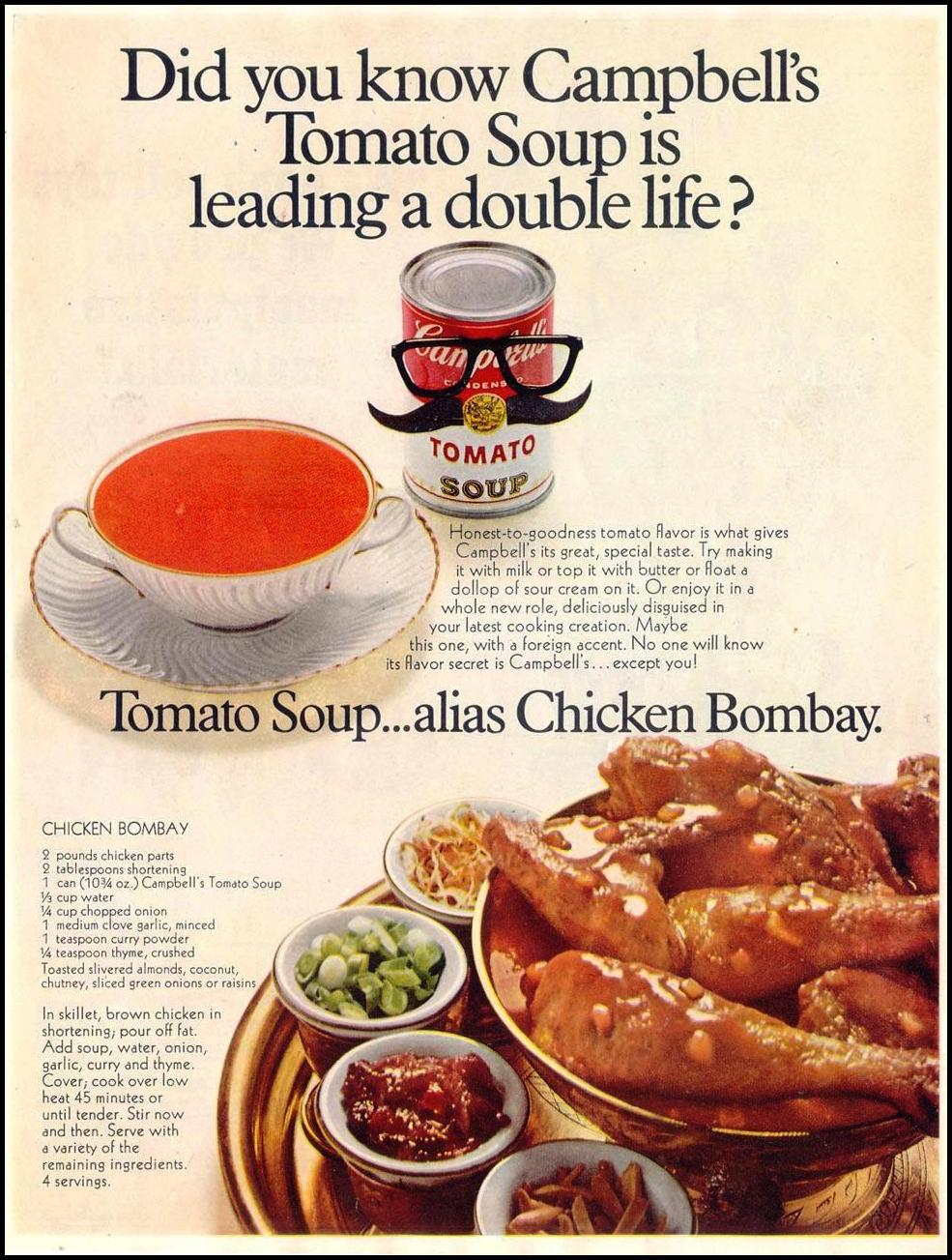 CAMPBELL'S TOMATO SOUP SATURDAY EVENING POST 12/28/1968