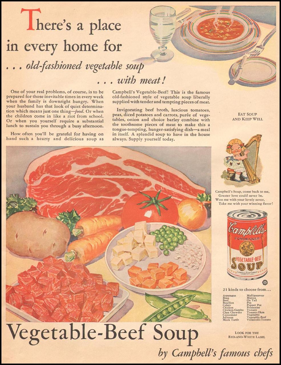 CAMPBELL'S SOUPS THE HOME MAGAZINE 05/01/1932 p. 9
