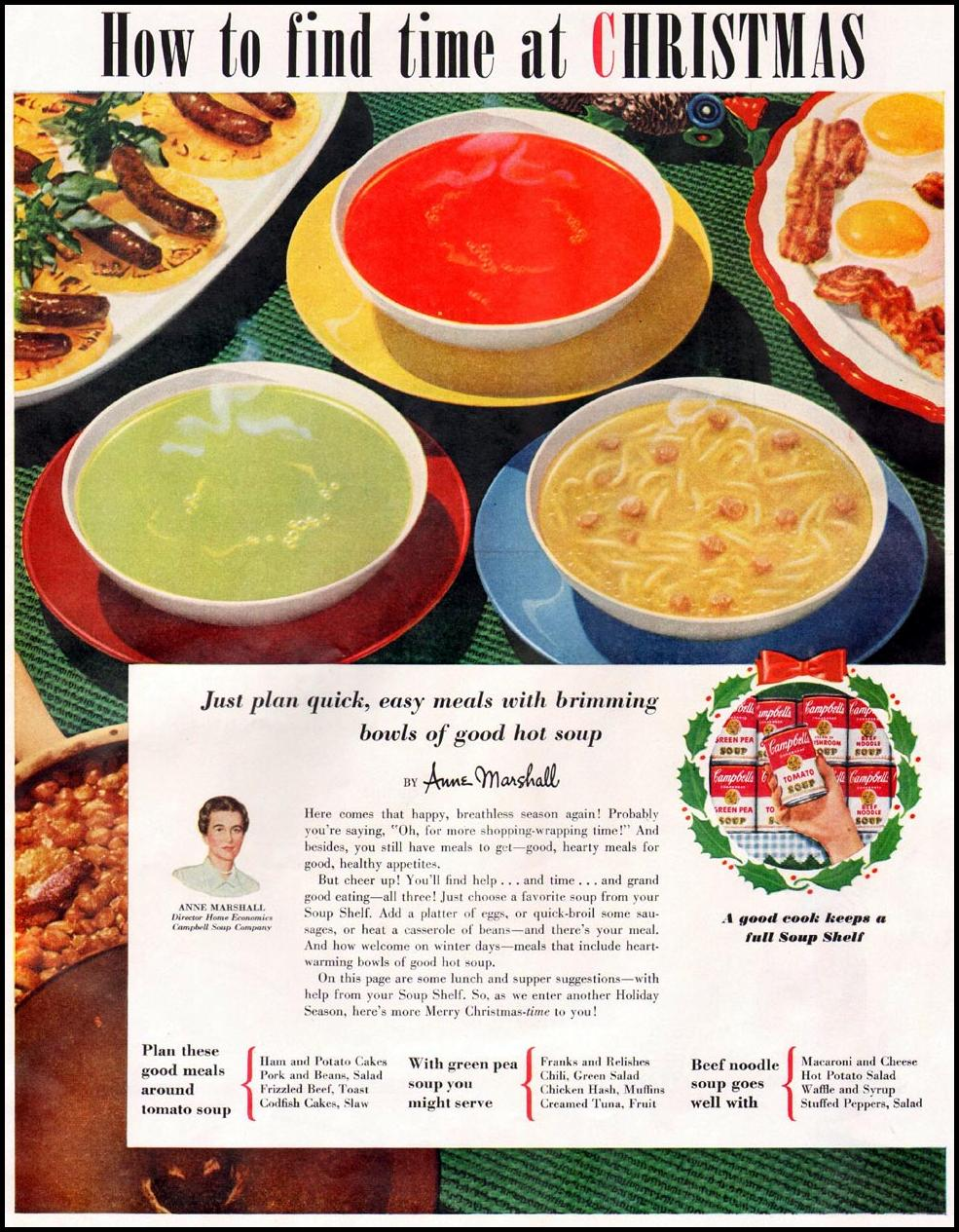 CAMPBELL'S SOUPS WOMAN'S HOME COMPANION 12/01/1952 p. 46