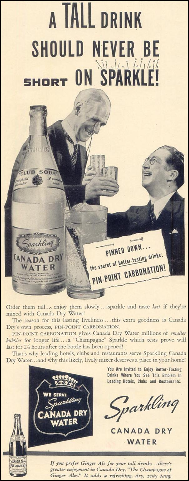 CANADA DRY WATER LIFE 10/17/1938 p. 72