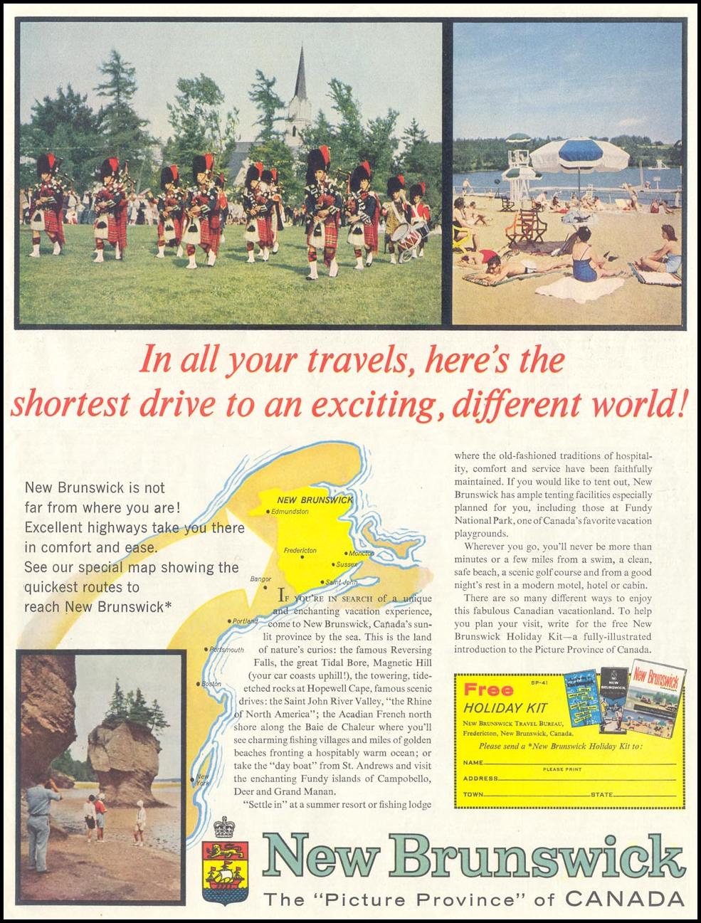 NEW BRUNSWICK VACATIONS SATURDAY EVENING POST 05/02/1959 p. 107
