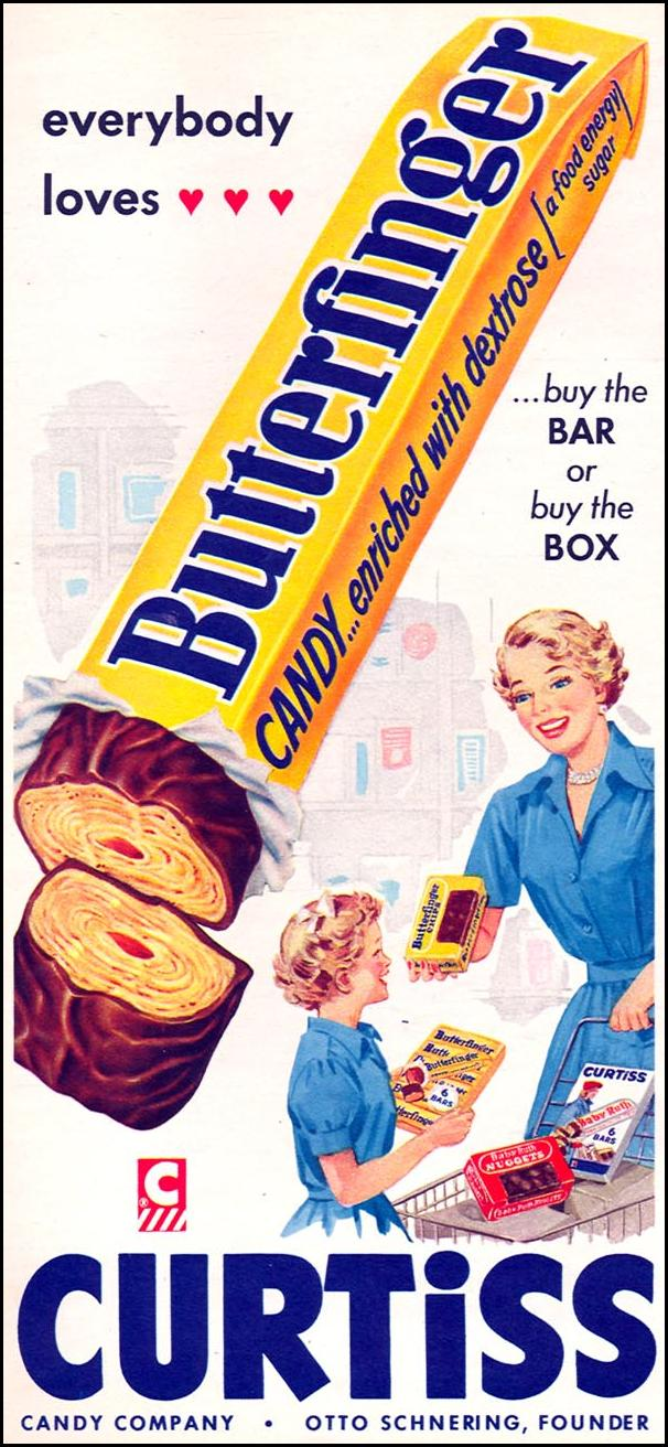 BUTTERFINGER CANDY BAR WOMAN'S DAY 02/01/1954 p. 116