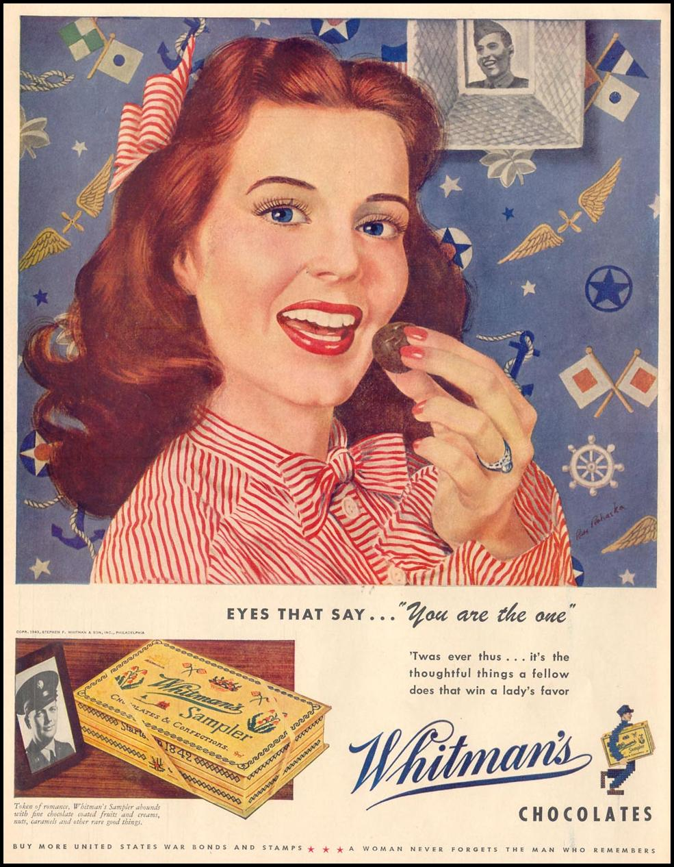 WHITMAN'S CHOCOLATES LIFE 11/08/1943