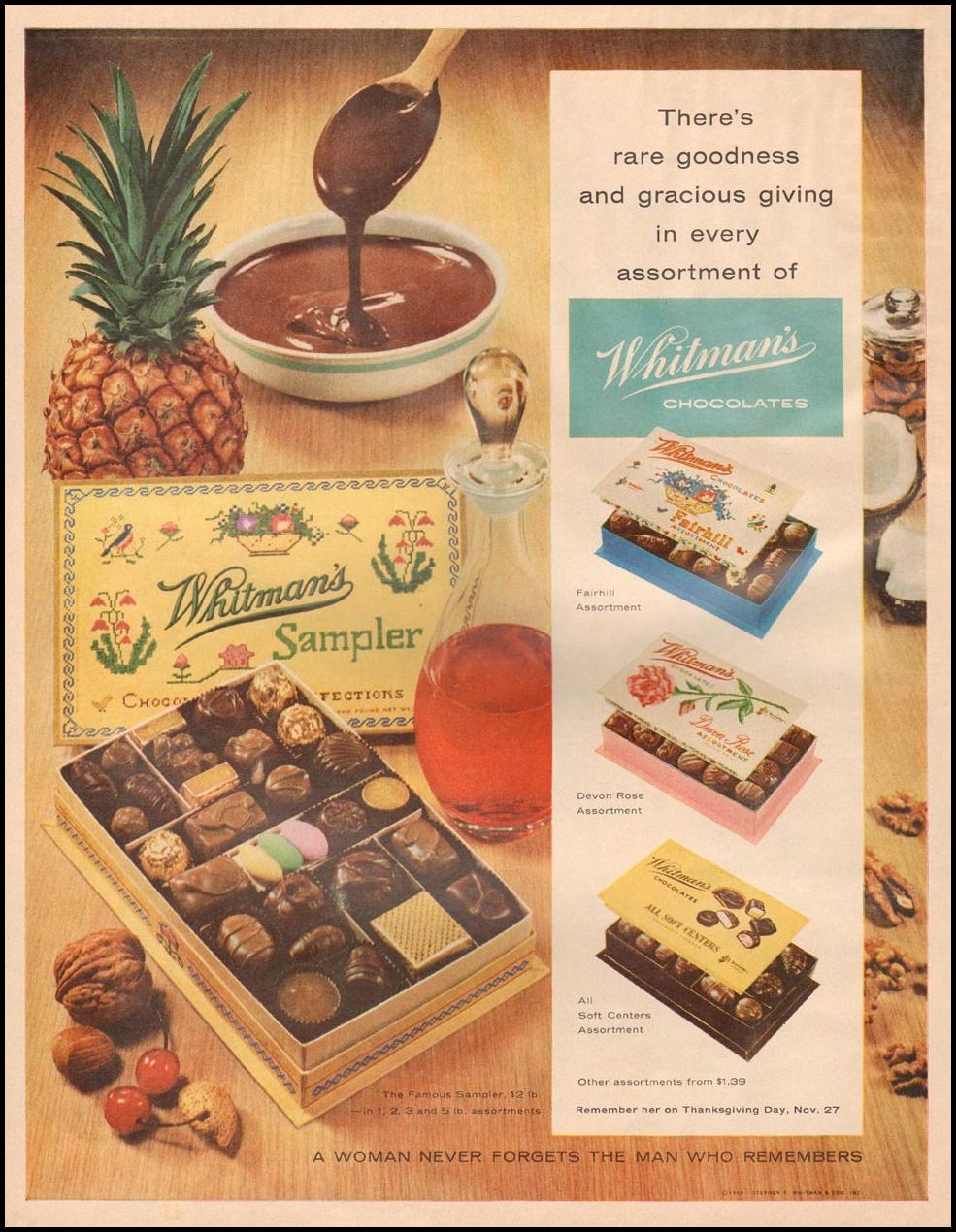 WHITMAN'S CHOCOLATES LIFE 11/24/1958