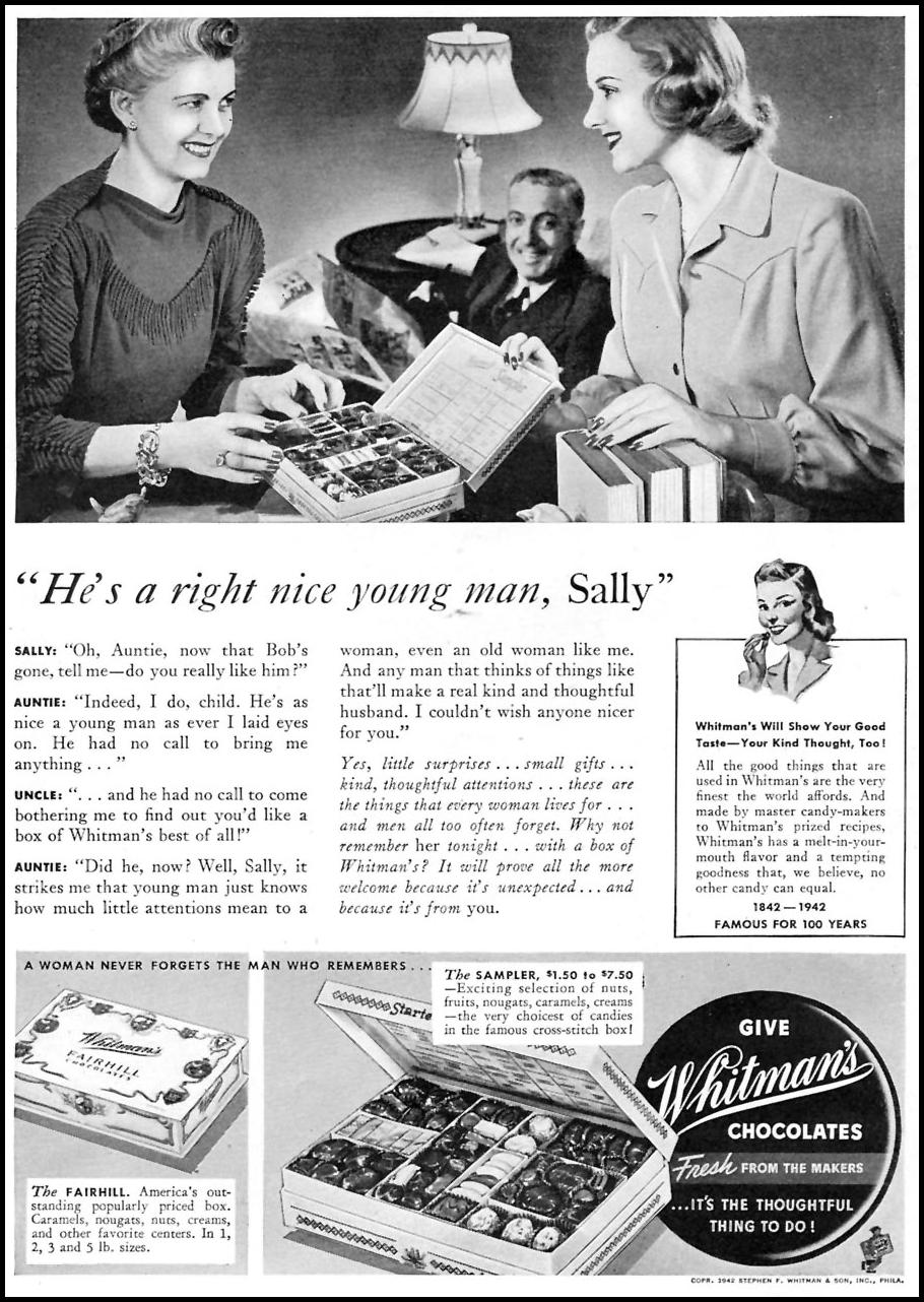 WHITMAN'S CHOCOLATES TIME 01/12/1942 p. 8
