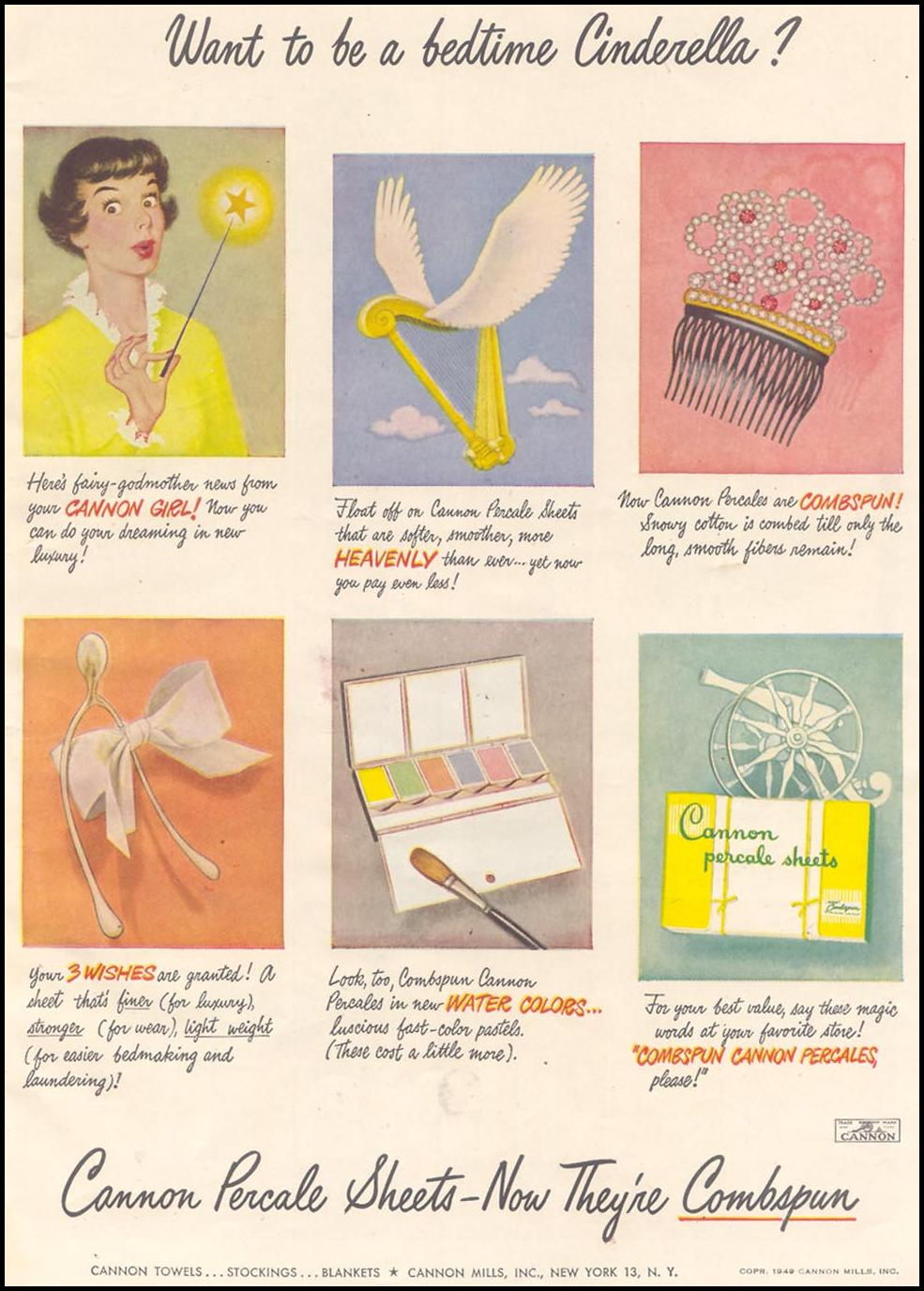 CANNON SHEETS GOOD HOUSEKEEPING 07/01/1949