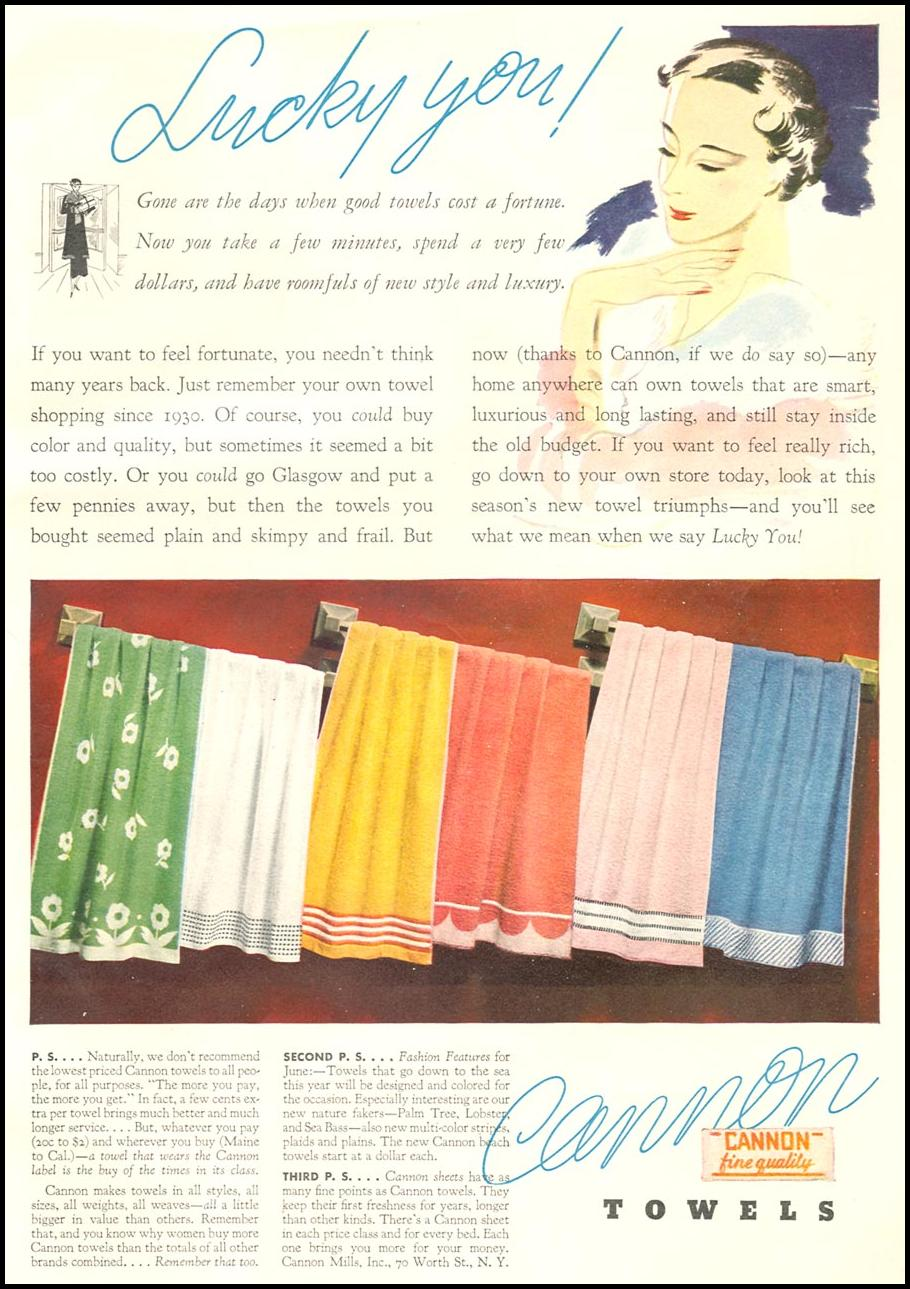 CANNON TOWELS GOOD HOUSEKEEPING 06/01/1935 p. 175