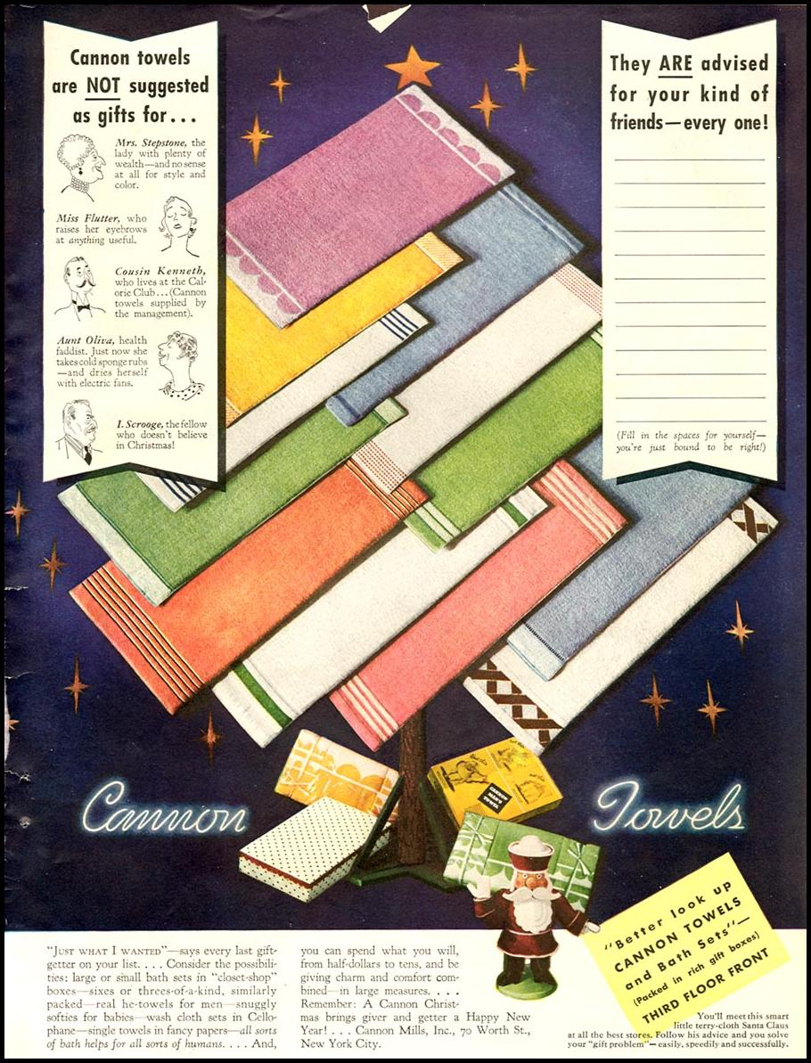 CANNON TOWELS GOOD HOUSEKEEPING 12/01/1934