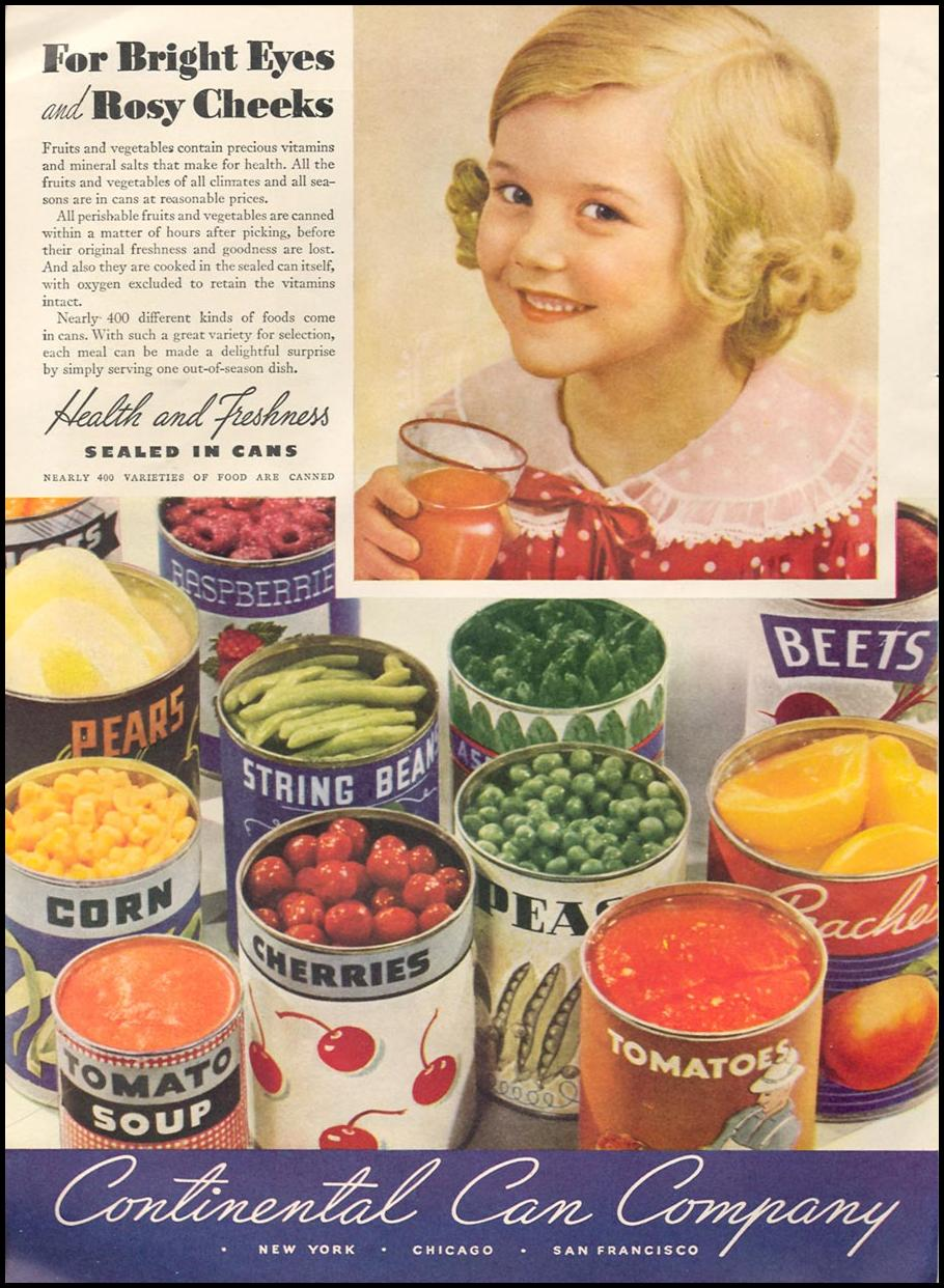 METAL CANS GOOD HOUSEKEEPING 04/01/1936 p. 200