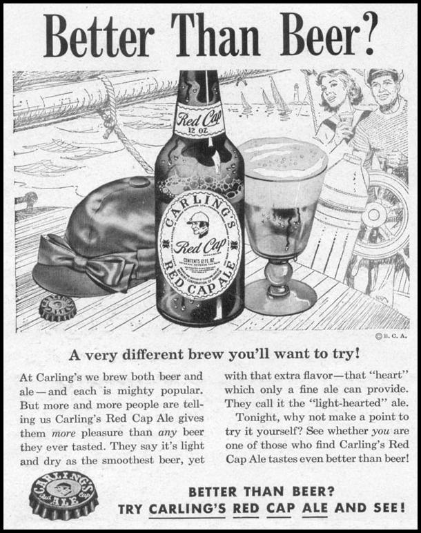 CARLING'S RED CAP ALE LIFE 10/13/1952 p. 132