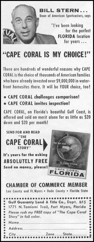 CAPE CORAL FLORIDA REAL ESTATE LIFE 02/09/1959 p. 68