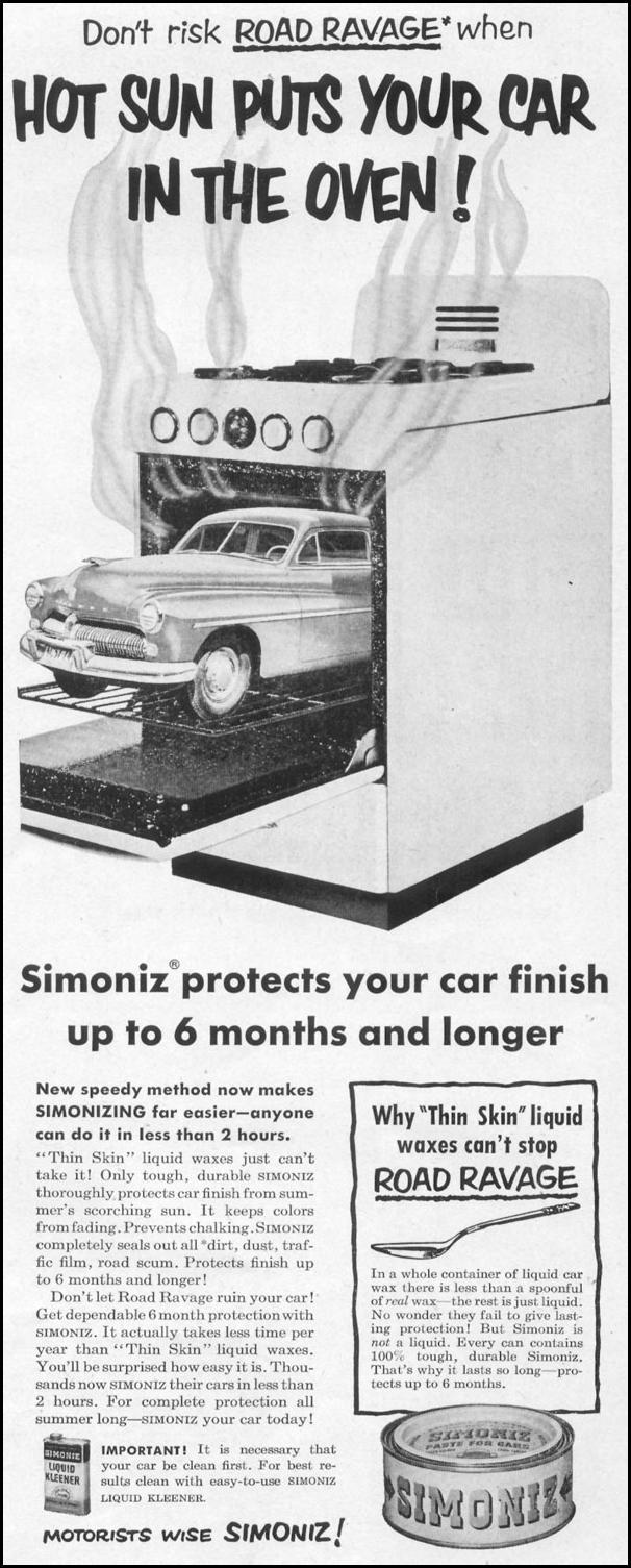 SIMONIZ CAR WAX LIFE 06/16/1952 p. 65