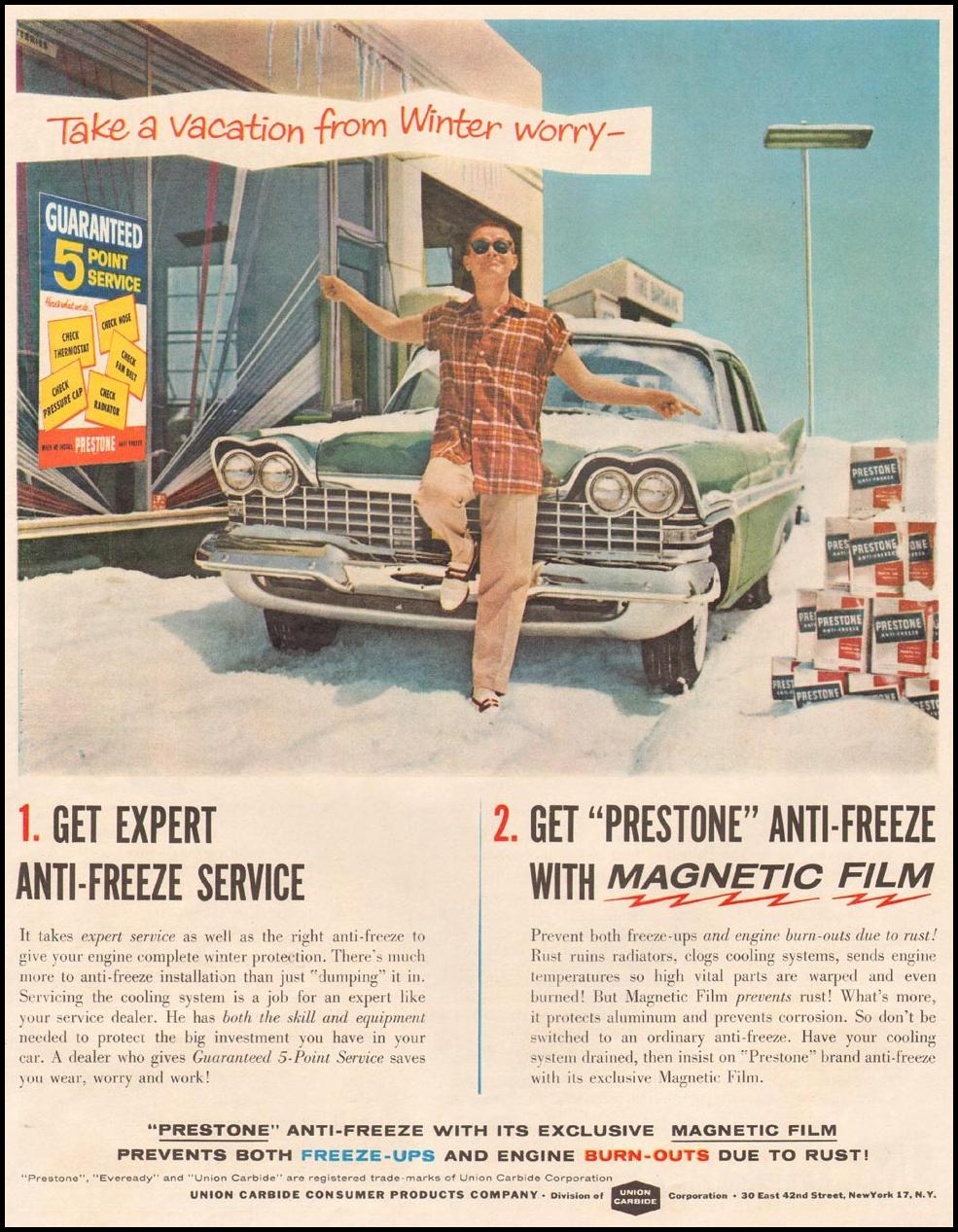PRESTONE ANTI-FREEZE LIFE 10/05/1959