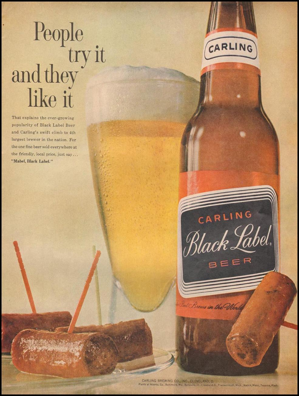 CARLING BLACK LABEL BEER LIFE 03/31/1961