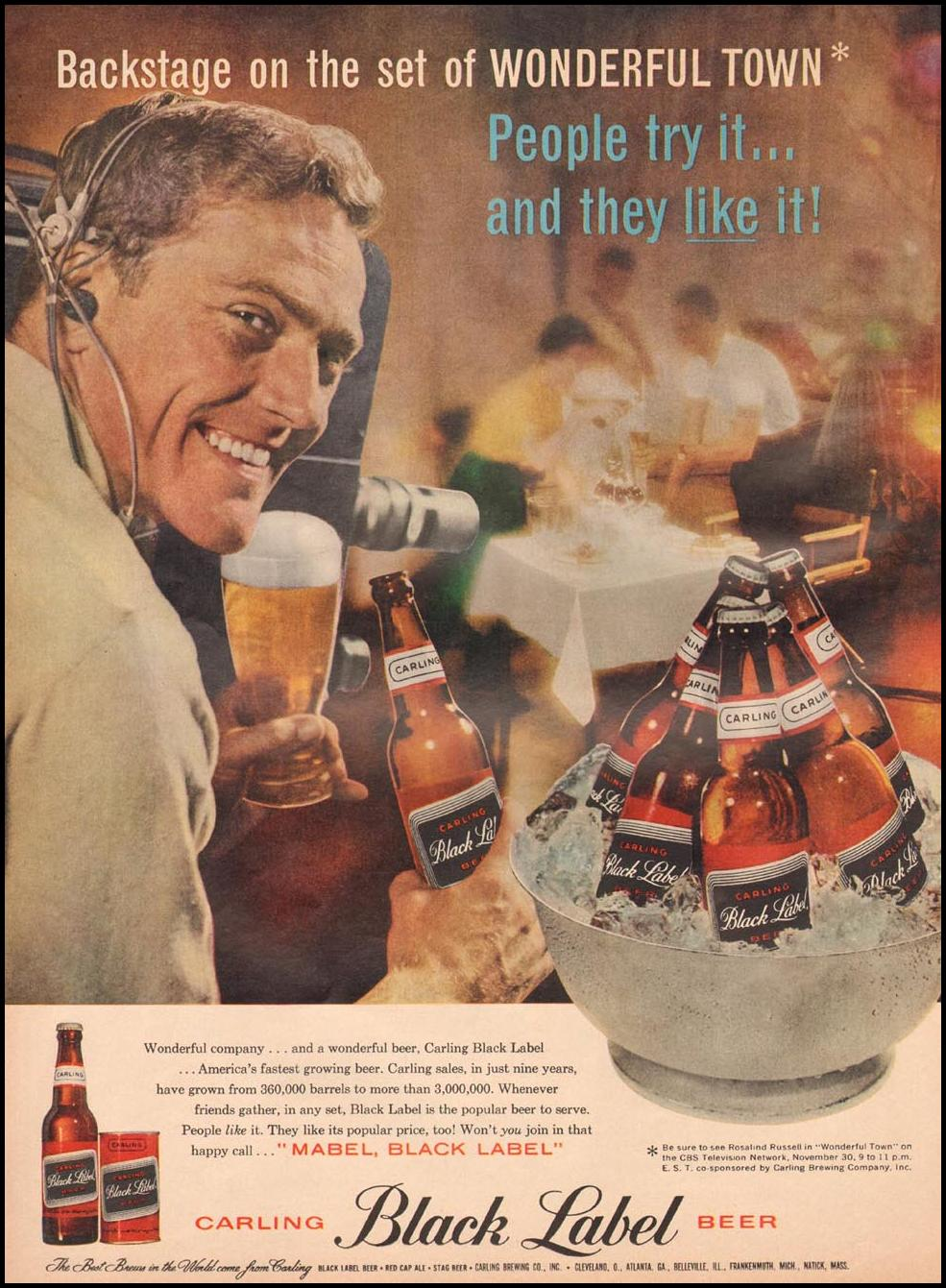 CARLING BLACK LABEL BEER LIFE 11/24/1958