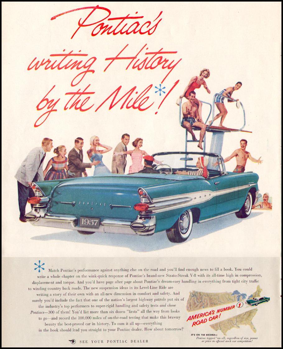 PONTIAC AUTOMOBILES LIFE 04/08/1957 p. 48