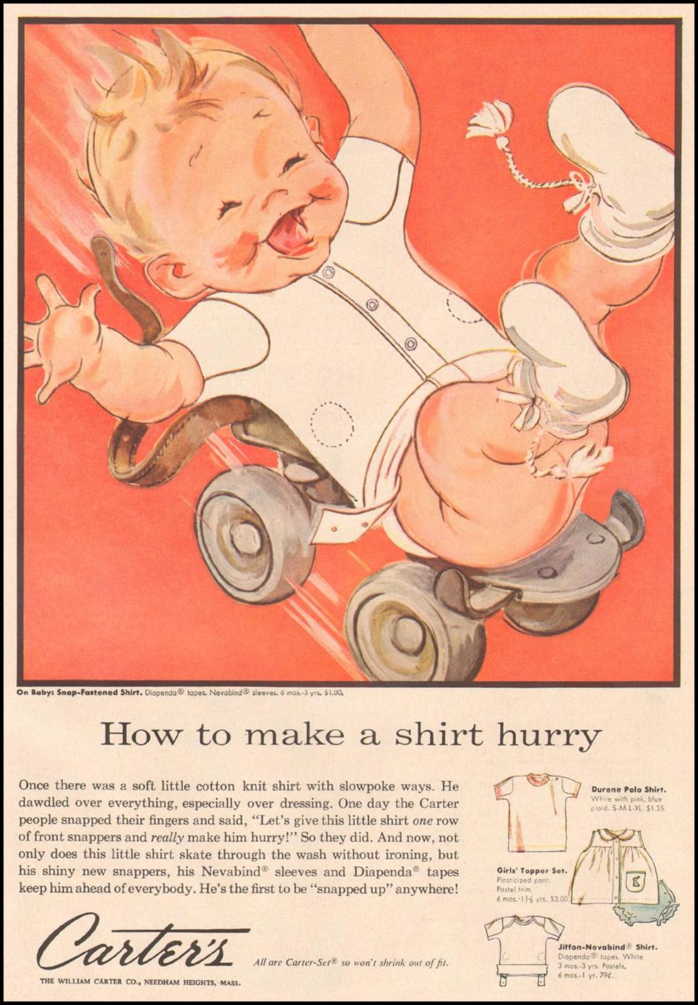 CARTER'S CHILDREN'S APPAREL GOOD HOUSEKEEPING 05/01/1957 p. 199