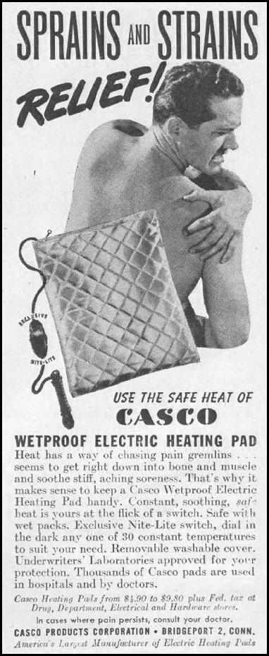 CASCO WETPROOF ELECTRIC HEATING PAD LIFE 11/25/1946 p. 130