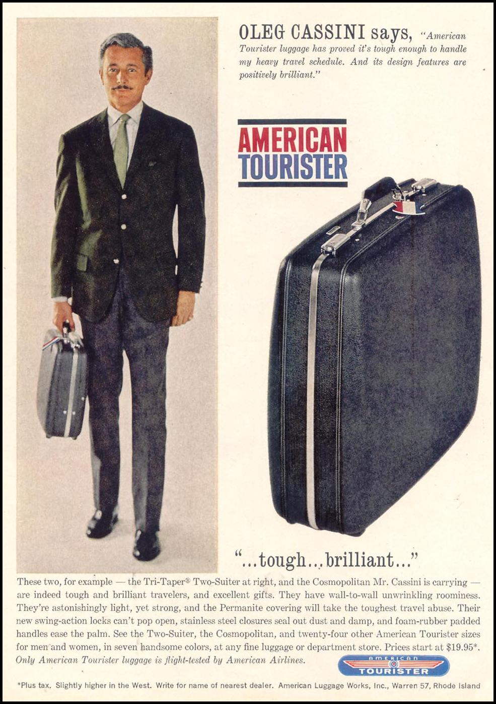 AMERICAN TOURISTER LUGGAGE TIME 12/06/1963 p. 121