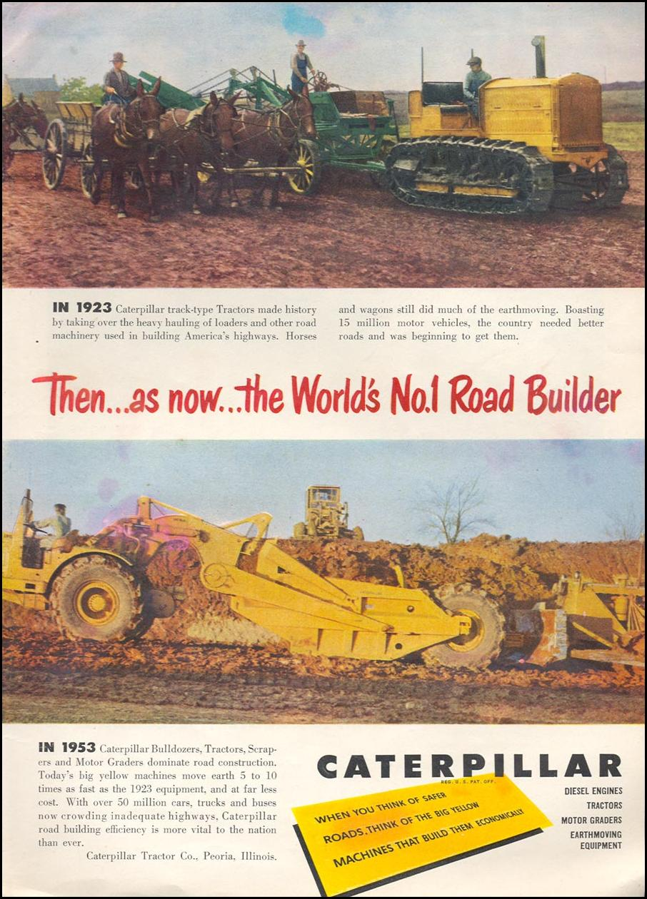 CATERPILLAR ROAD CONTRUCTION EQUIPMENT TIME 06/08/1953 p. 70