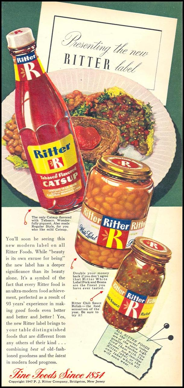 RITTER FOODS WOMAN'S DAY 05/01/1947 p. 87