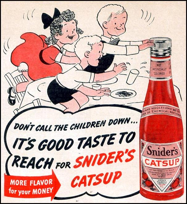 SNIDER'S CATSUP WOMAN'S DAY 12/01/1940 p. 61