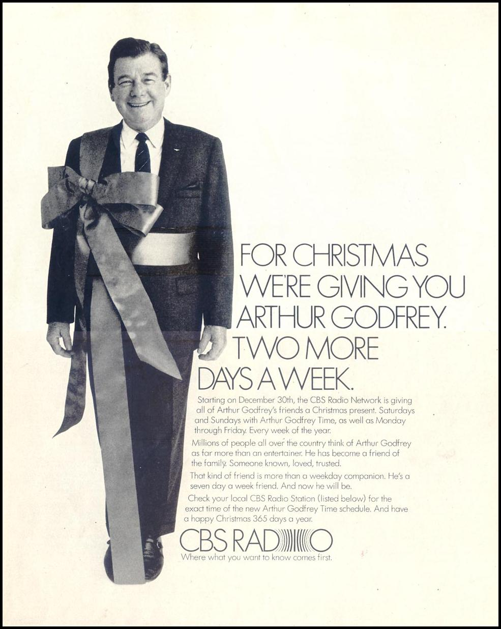 CBS RADIO SATURDAY EVENING POST 12/28/1968 p. 71