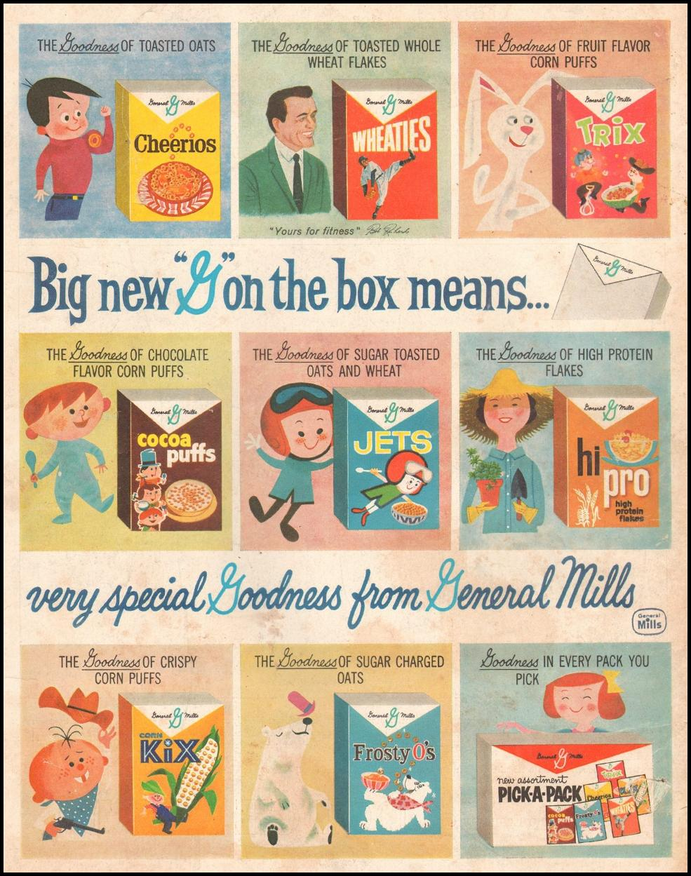 GENERAL MILLS CEREALS SATURDAY EVENING POST 06/11/1960 BACK COVER