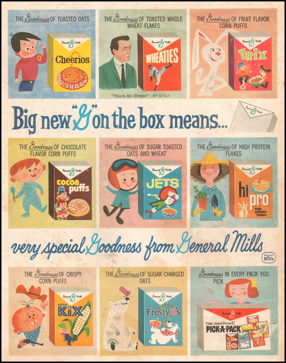 GENERAL MILLS CEREALS SATURDAY EVENING POST 06/11/1960 BACK COVER
