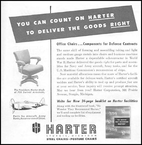 OFFICE CHAIRS NEWSWEEK 06/11/1951 p. 80