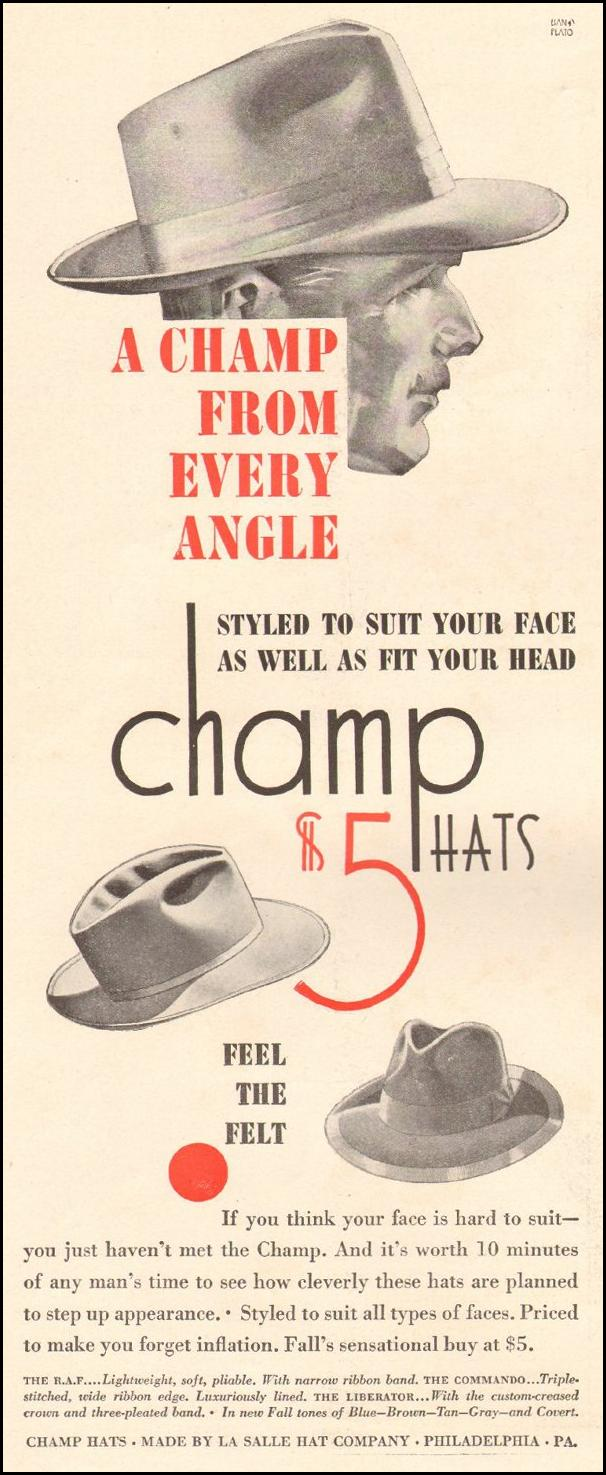 THE CHAMP HAT LIFE 10/25/1943 p. 132
