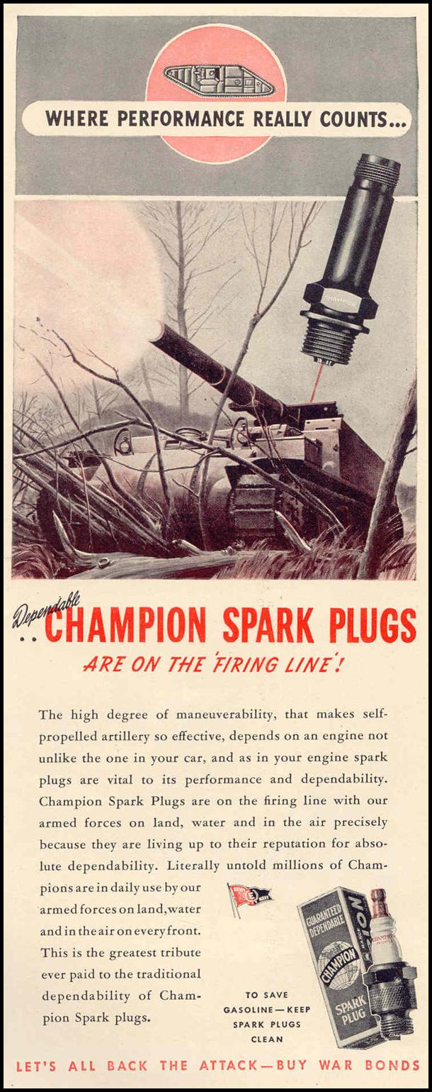 CHAMPION SPARK PLUGS LIFE 02/14/1944 p. 120