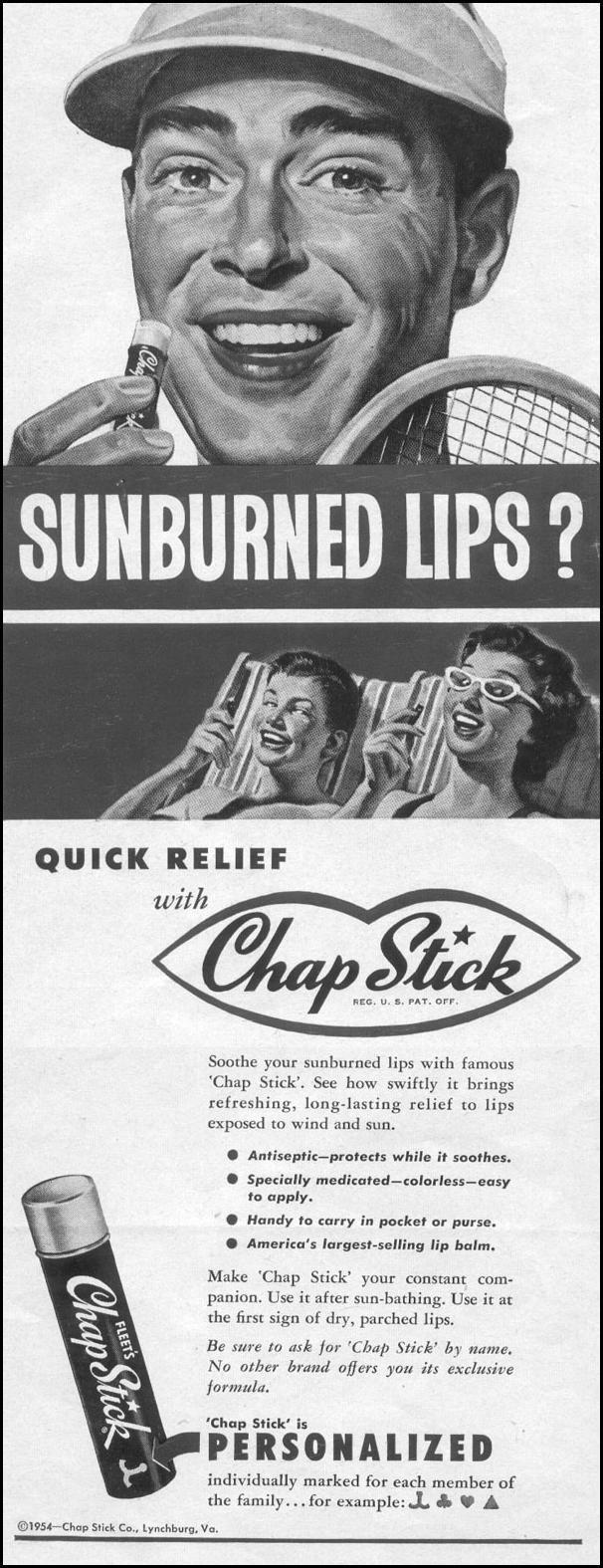 FLEET'S CHAP STICK LIP BALM LIFE 07/12/1954 p. 4