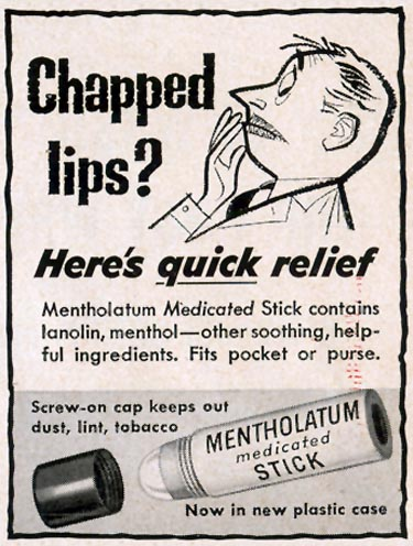 MENTHOLATUM MEDICATED STICK LIFE 10/19/1953 p. 20
