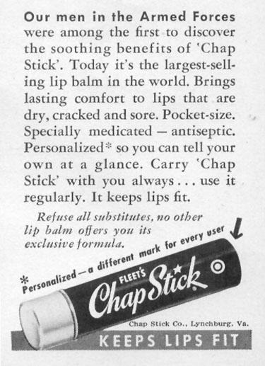 CHAP STICK LIP BALM LIFE 11/14/1955 p. 109