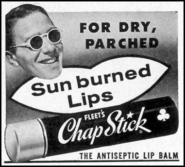 CHAP STICK ANTISEPTIC LIP BALM SATURDAY EVENING POST 07/23/1955 p. 101