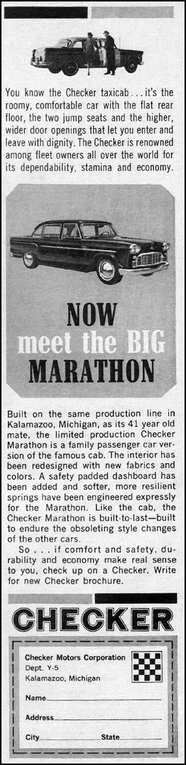 CHECKER AUTOMOBILES TIME 05/24/1963 p. 9