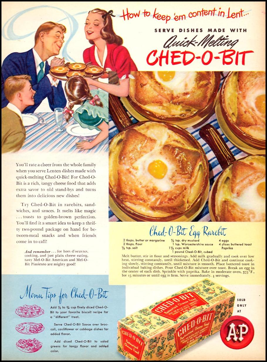 CHED-O-BIT CHEESE FOOD WOMAN'S DAY 04/01/1946 p. 53