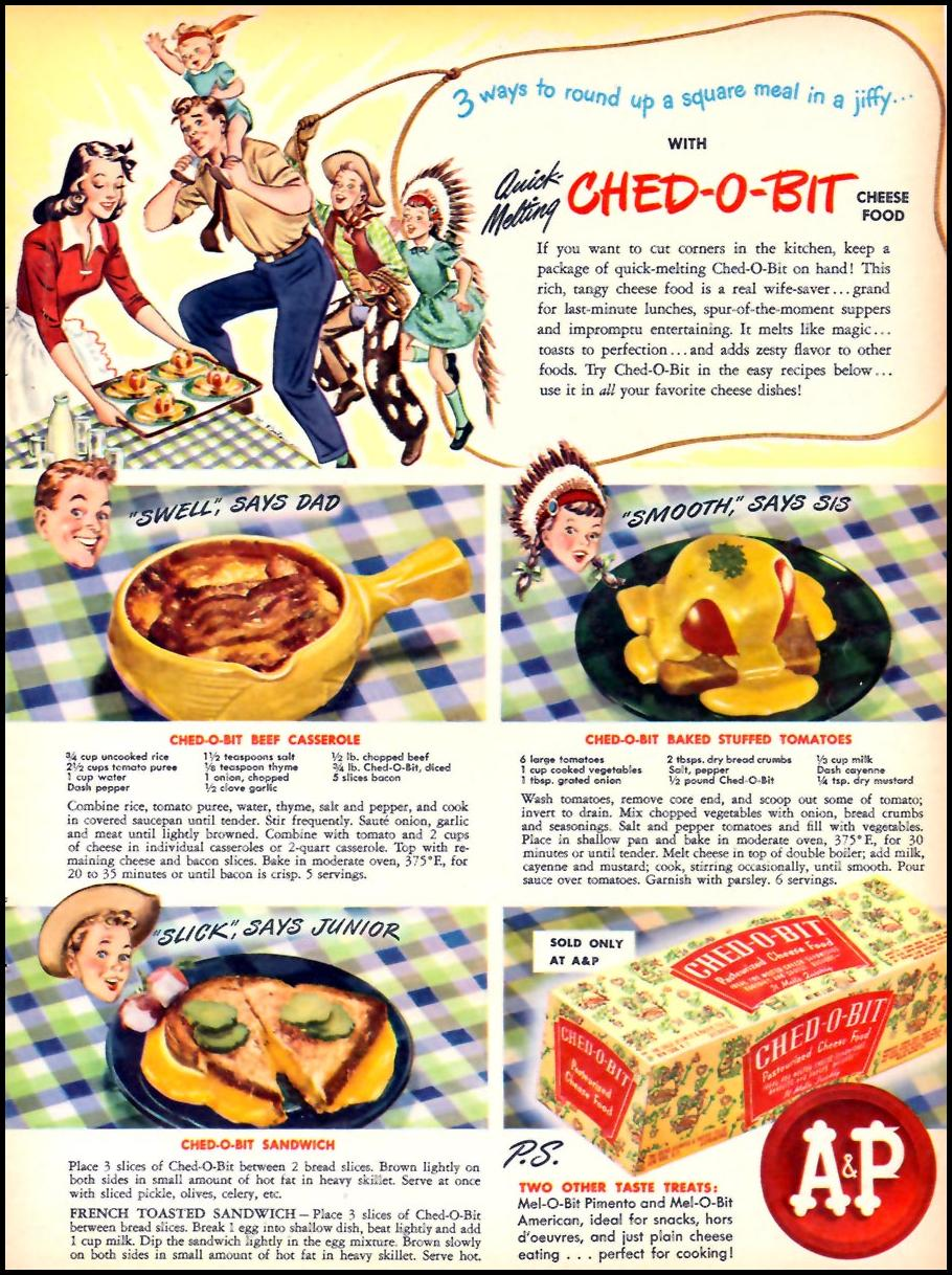 CHED-O-BIT CHEESE FOOD WOMAN'S DAY 07/01/1946