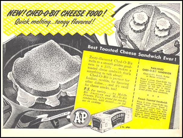 CHED-O-BIT CHEESE FOOD WOMAN'S DAY 11/01/1945 p. 67