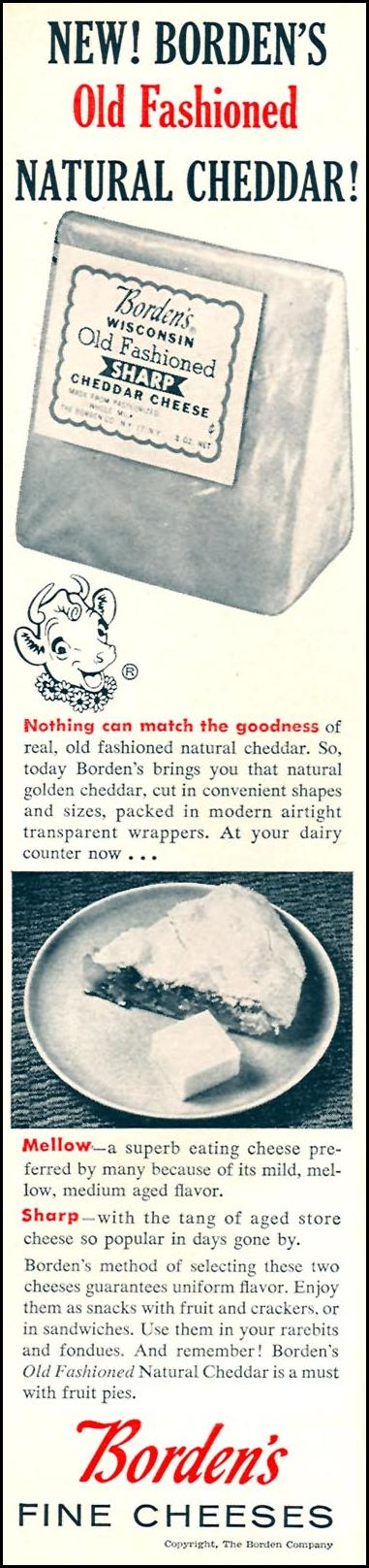 BORDEN'S FINE CHEESES WOMAN'S DAY 04/01/1956 p. 86