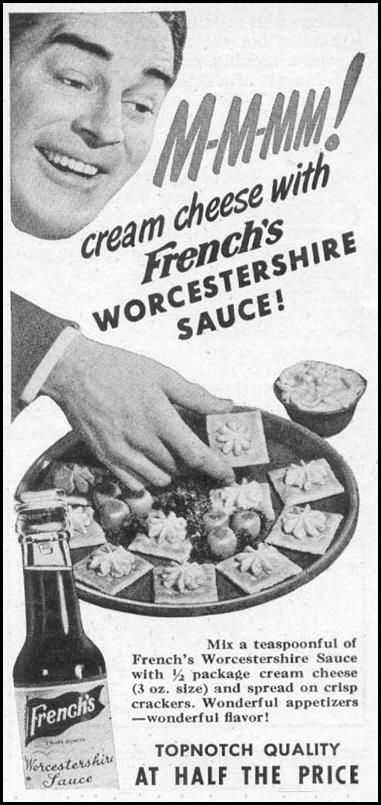 FRENCH'S WORCESTERSHIRE SAUCE WOMAN'S DAY 06/01/1946 p. 80