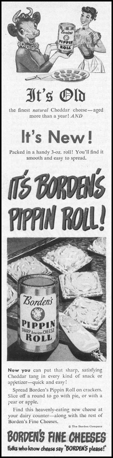 BORDEN'S PIPPIN ROLL WOMAN'S DAY 10/01/1949 p. 100