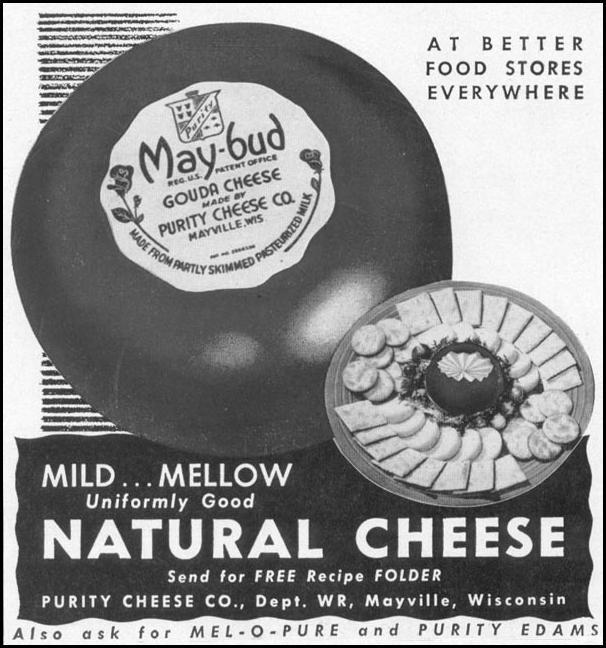 MAY-BUD NATURAL CHEESES WOMAN'S DAY 10/01/1949 p. 129
