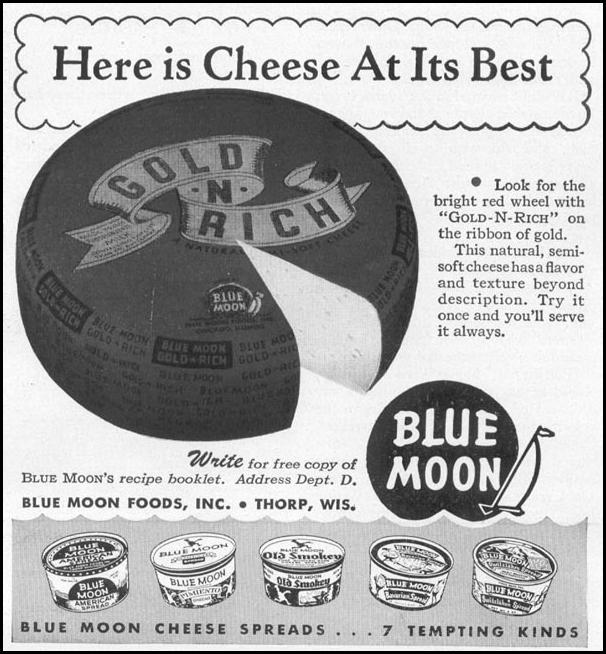 GOLD-N-RICH CHEESES WOMAN'S DAY 12/01/1948 p. 111